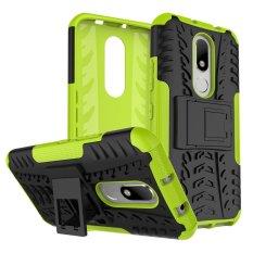 For Motorola Moto M Tyre Pattern 2-In-1 Phone Cover Kickstand (PC + TPU) - Green - intl