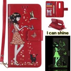 untuk Motorola Moto X Style Case Cover-Gaya Busana Klasik Dompet Flip Stand Noctilucent PU Kulit Phone Case- INTL