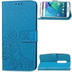 untuk Motorola Moto X Style/Moto X Pure Edition Case Cover-Gaya Busana Klasik Dompet Flip Stand PU Kulit Phone Case-Intl