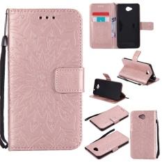 untuk Nokia Microsoft Lumia 650 Case Cover-Gaya Busana Klasik Dompet Flip Stand PU Kulit Mobile Phone Case- INTL