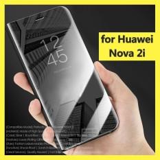 Rp 134.000 untuk Nova 2i Mewah Plating Clear View Cermin Transparan Casing Ponsel Penutup Flip Full Cover Kickstand ...