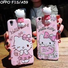 For Oppo F1S/A59 - 3D Lovely Cute Hello Kitty Pink Soft Silicone Case