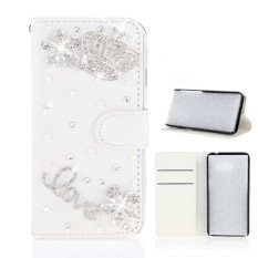 Toko For Oppo F5 3D Bling Diamond Rhinestones Pu Leather Wallet Case Flip Stand Card Slots Cover With Magnetic Closure Intl Lengkap Tiongkok