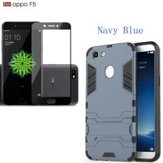 Spesifikasi Untuk Oppo F5 Armor Shockproof Back Cover Dual Layer Built In Casing Hp Dengan 2 5D Full Coverage Anti Scratch Tempered Glass Screen Protector Film Merk Not Specified