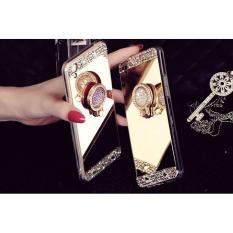 For Oppo Neo 10/A39 - Luxury Mirror Diamond Rhinestone Ring Soft Case