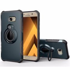 Untuk Samsung Galaksi A7 (2017) case [AIR-Jatuh Pelindung] 360 Derajat Berputar Lingkaran Case Sampul Belakang, Dibangun Di-Dalam Lingkaran Penahan Stand Penyangga, bisa Bekerja dengan Dudukan Mobil Magnetik, Tahan Tahan, Tahan Goncangan-Internasional