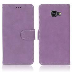 Untuk Samsung Galaxy A710/A7 2016 VINTAGE Retro Dompet Warna Matte Flip Penutup Ponsel Kulit