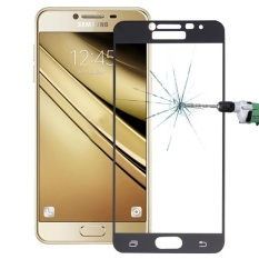 untuk Samsung Galaxy C5/C500 0.26mm 9 H Kekerasan Permukaan Tahan Ledakan Silk-screen Tempered Glass Layar Penuh Film (Hitam) -Intl