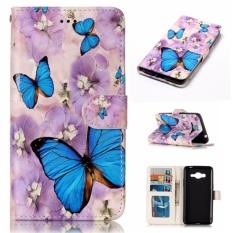 untuk Samsung Galaxy J2 Prime/Grand Prime Plus 2016/G532 Case Cover-Gaya Busana Klasik Dompet Flip Stand PU Kulit Phone Case-94-Intl