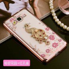 untuk Samsung Galaxy J2 Prime Soft Phone Case Fashion Phone Cover Casing dengan Cincin Pemegang-Intl
