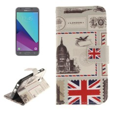 Untuk Samsung Galaksi J3 (2017) (Versi UE) UK Pola Kulit Horisontal Lipat Case dengan Pemegang dan Slot Kartu dan Dompet-Internasional
