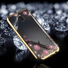 untuk Samsung Galaxy J5 (2017) (EU Version) Bunga Pola Berlian Bertatahkan Elektroplating