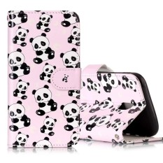 For Samsung Galaxy J5 (2017) (EU Version) Gloss Oil Embossed Panda Pattern Horizontal Flip Leather Case with Holder and Card Slots and Wallet and Photo Frame - intl