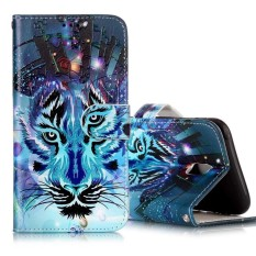 For Samsung Galaxy J5 (2017) (EU Version) Gloss Oil Embossed Wolf Pattern Horizontal Flip Leather Case with Holder and Card Slots and Wallet and Photo Frame - intl