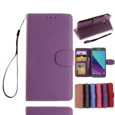 untuk Samsung Galaxy J5 (2017) Wallet Case CLASSIC FLIP Folio Phone Case Bahan Kulit