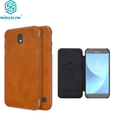 for Samsung Galaxy J7 2017 case cover Nillkin vintage Qin PU leather hard plastic back cover
