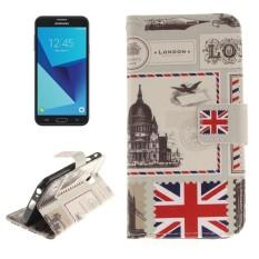 Untuk Samsung Galaksi J7 (2017) (Versi UE) UK Pola Kulit Horisontal Lipat Case dengan Pemegang dan Slot Kartu dan Dompet-Internasional