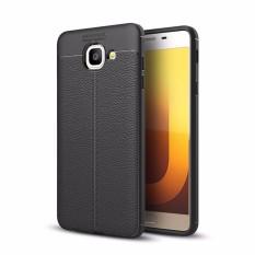 Untuk Samsung Galaksi J7 Maksimum Case [Kulit Biji-bijian] Modis Premium Lembut TPU Kembali Case Sarung, ringan Sangat Tipis, Lensa Perlindungan, Tidak Tergelincir, Anti Guncangan-Internasional