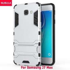 Untuk Samsung Galaxy J7 Max/Di Max 360 Derajat Ultra-Thin Keras Penutup Belakang Detachable 2 In 1 Pelindung Hibrid Shell case Dual-Layer Penuh Pelindung Casing Pelindung Anti Kejut/Anti Jatuh Ponsel Cover dengan Standar Built-in-Intl