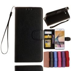 Spesifikasi Untuk Samsung Galaxy J7 Prime On7 2016 Wallet Case Classic Flip Folio Phone Case Bahan Kulit Pu Lembut Cover Dengan Slot Kartu Klip Uang Penutupan Magnetik Stand Holder Tali Pergelangan Tangan Dan Harga