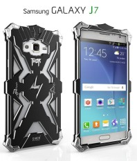 For Samsung Galaxy J7(2016) Phone Case Original Design Armor Heavy Dust Metal Aluminum Simon THOR IRONMAN Back Cover - intl