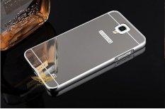 untuk Samsung GALAXY Mega 2 Case Luxury Mirror Metal Bumper + PC Hard Mirror Phone Case Back Cover Telepon Perumahan untuk Samsung GALAXY Mega 2 Handphone Casing-Intl