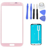 Beli Untuk Samsung Galaxy Note 2 N7100 N7105 Pink Lensa Kaca Depan Screen Replacement Repair Kit Hitam Putih Tape Alat Internasional Yang Bagus