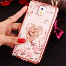 For Samsung Galaxy Note 3 Soft Phonecase Lady Mobile Phone Case Phone Cover With Ring Holder - intl