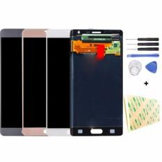 untuk Samsung Galaxy Note 4 Edge N915 Layar LCD Layar Sentuh Digitizer Full Bagian Penggantian Unit + Alat-Internasional