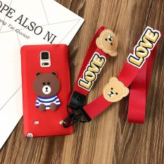 untuk Samsung Galaxy Note 4 Soft Handphone Case Fashion Casing Cover-Intl