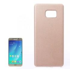 Untuk Samsung Galaksi Note 5/N920 Lengkeng Tekstur Pasta Kulit PU Kulit + Buah Case (Emas) -Internasional