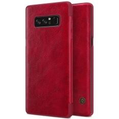 Untuk Samsung Galaksi Note 8 Lipat Case NILLKIN Qin PU Kulit Sarung Super Tipis Lipat Kartu Saku untuk Note8 dengan Paket Eceran-Internasional