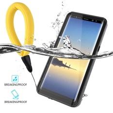Kualitas Untuk Samsung Galaxy Note 8 Ultra Slim Waterproof Dustproof Case Cover Dots Pola Pelindung Shell Dengan Daya Apung Lanyard Intl Moonmini