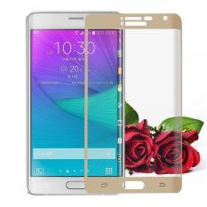 Jual Untuk Samsung Galaxy Note Edge Premium Penuh 3D Cuvred Cover 3Mm 9 H Tempered Glass Screen Protector Intl Oem Ori