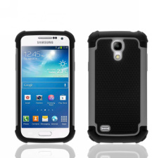 For Samsung Galaxy S4 Mini I9190 Case Heavy Duty Protective Armor Shock Absorbing Dual Layer Hybrid Rugged Rubber Cover Case Grey Color (Intl)