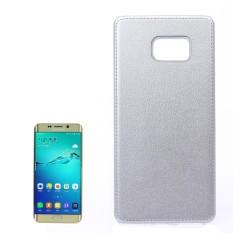 Untuk Samsung Galaksi S6 Sisi +/G928 Lengkeng Tekstur Pasta Kulit PU Kulit + Buah Case (Perak) -Internasional