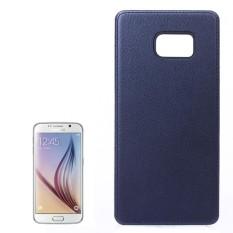 Untuk Samsung Galaksi S6/G925 Lengkeng Tekstur Pasta Kulit PU Kulit + Buah Case (Gelap Biru) -Internasional