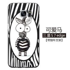 untuk Samsung Galaxy S7 Edge Fashion Pola Phone Case Plastik Telepon Shell Mobile Kartun Telepon Cover