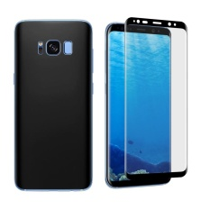 Harga Untuk Samsung Galaxy S8 Angibabe 1Mm Pet Melengkung Elektroplate Depan Belakang Soft Full Screen Protector Film Hitam Intl Online