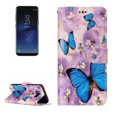 untuk Samsung Galaxy S8 +/G9550 Gloss Minyak Embossed Purple Butterfly Pola Case Kulit Horisontal Flip dengan Pemegang dan Slot Kartu dan Dompet dan Bingkai Foto-Intl