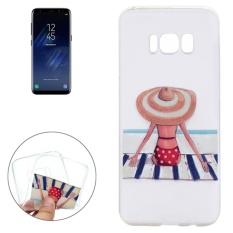 Untuk Samsung Galaxy S8 Titik Gelombang Gadis Pola Pelindung TPU Lunak Case-Intl