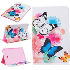 For Samsung Galaxy Tab A 10.1 With S Pen P580 Leather PU Case Flip Folio Wallet Stand Cover - Butterflies - intl