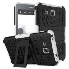 untuk Samsung Galaxy Tab A 7.0 (2016) T280 T285 Tablet Case, Pelindung Cover Tablet Kasus Rugged Impact Armor Hybrid Shell Dual-Layer Detachable Shockproof-Putih-Intl