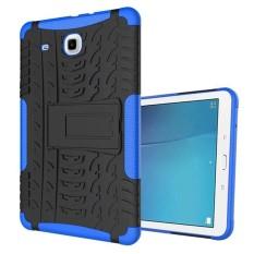 Untuk Samsung Galaxy Tab E 9.6 (T560 T561) Sarung Tablet, penutup Pelindung Tablet Case S Dampak Kasar Armor Casing Hibrid Dual-Layer Dilepas Shockproof-Biru-Intl