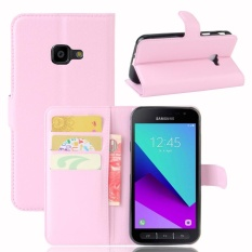untuk Samsung Galaxy Xcover 4 G390F Case Cover-PU Kulit Klasik Fashion Style Dompet Flip Stand Phone Case- INTL