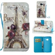 untuk Samsung Galaxy Xcover 4/SM-G390 Case Cover-Gaya Busana Klasik Dompet Flip Stand PU Kulit Ponsel Case-Intl