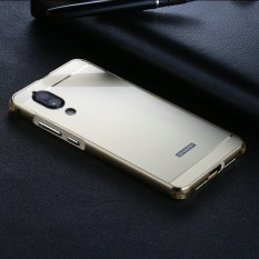 For Sharp Aquos S2 Anti-Knock Case Plating Metal Frame Wiredrawing with Brushed Back Cover Hard Case for Sharp Aquos S2 Casing - intl