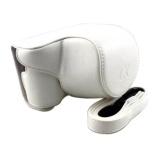 Promo Untuk Sony Kamera Bag Case Pu Kulit Pelindung Cover Pouch Withshoulder Strap Untuk Sony A5000 A5100 Alpha A5000 Il Ce 5000L Nex3N Nex 3N 16 50Mm Lensa Kamera Putih Intl