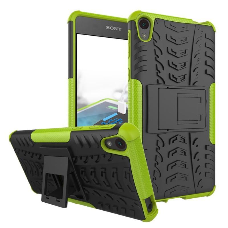ZZOOI Untuk Sony Xperia E5 Case Berat Tugas Pelindung Anti Guncangan Kasar Karet Silikon Keras Belakang