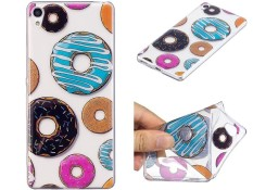 Untuk Sony Xperia M2/Xperia M2 Aqua Bening Lembut Lucu Kartun Pola Desain Tpu Pelindung Pelindung Transparan (Donut) -Internasional